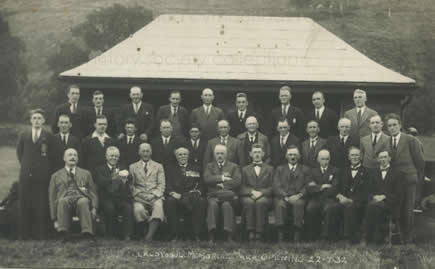 The group responsible for organising the creation of Llandysul Memorial Park 1932